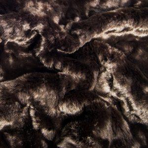 Günstig kaufen Kunstpelz-Faltenstoff, superweich, dunkelbraunfarben – 1164 dk-brown