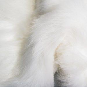 Luxus Webpelz Luxuriöses sibirisches langhaariges Pelzimitat in Weißes Farbe – 1539 Arctic White