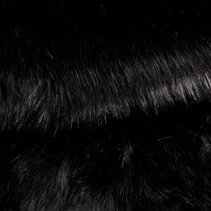 Luxus Webpelz Luxuriöses sibirisches langhaariges Pelzimitat in Schwarz Farbe – 1539 Black