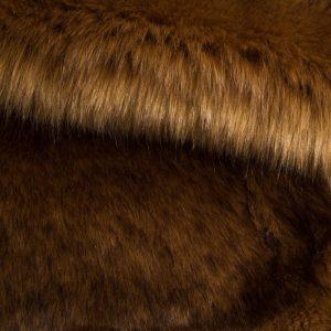 Luxus Webpelz Luxuriöses sibirisches langhaariges Pelzimitat in Kamel Farbe – 1539 Camel