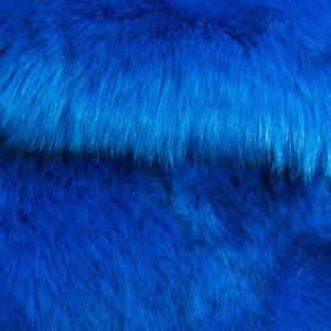 Luxus Webpelz Luxuriöses sibirisches langhaariges Pelzimitat in Meerblau Farbe – 1539 Ocean Blue
