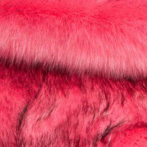 Luxus Webpelz Luxuriöses sibirisches langhaariges Pelzimitat in Rosa Farbe – 1539 Rose