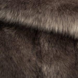 Luxus Webpelz Luxuriöses sibirisches langhaariges Pelzimitat in stahlgrauer Farbe – 1539 Steel Grey