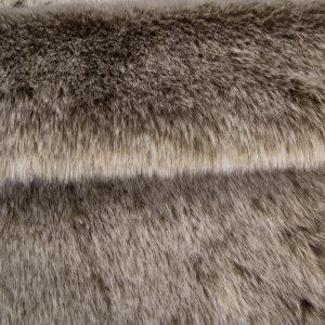 Luxus Webpelz Kunstfellstoff Imitation Kaninchen beige und weiß – 1557 Lt.Brown/White