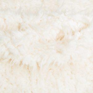 Luxus Webpelz Super weiches tibetisches Schaffell Kunstfell Crème/Weiß – 2R242 Cream Ostrich