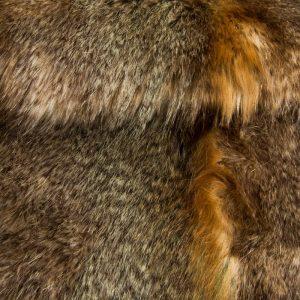 Luxus Webpelz Kunstpelzstoff am laufenden Meter, Wolf Pelz imitat, beige/braun – 3002 Beige Wolf