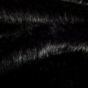 Luxus Webpelz Luxuriöser Kunstpelzstoff, superweich, schwarz – 3025 Black