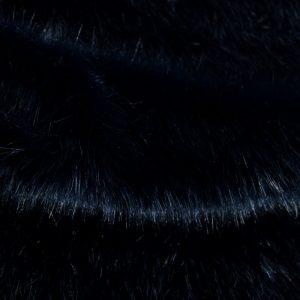 Luxus Webpelz Luxuriöser Kunstpelzstoff, superweich, dunkelblau- 3025 Blue / Black