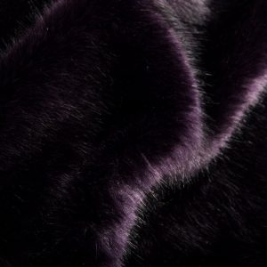 Luxus Webpelz Luxuriöser Kunstpelzstoff, superweich, lila schwarz – 3025 Purple Black