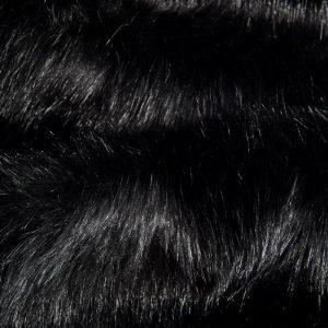 Luxus Webpelz Luxuriöses Pelzimitat Stoff im Bären-Stil, Schwarz, super weich – 3080 Black