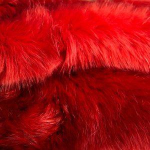 Luxus Webpelz Luxuriöses Pelzimitat Stoff im Bären-Stil, terracotta-rot, super weich – 3080 Terracotta