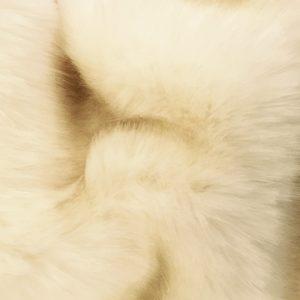 Luxus Webpelz Luxuriöses Pelzimitat Stoff im Bären-Stil, Crème, super weich – 3080 Cream
