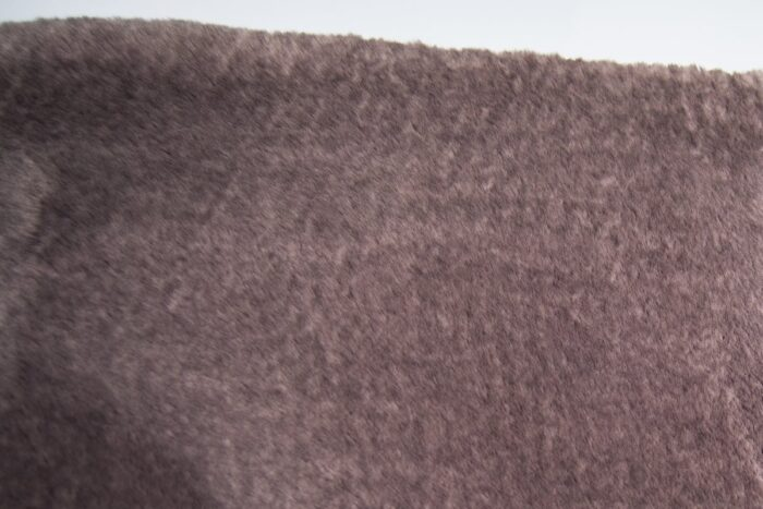 Luxus Webpelz Pelzimitat Stoff superweich taupe mit tipprint in dunklem Taupe – 3105 Taupe/Dk. Taupe