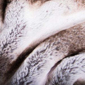 Günstig kaufen Webpelzstoff im Chinchillastil, Grau mit silbernen tipprint – 3106 Silver Chinchilla