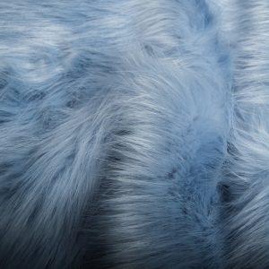 Luxus Webpelz Langhaarig Webpelz Fuchsimitation am laufenden Meter, Weichblau – 7552 Powder Blue