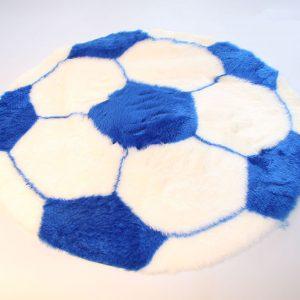 Fertigprodukte Fußballteppich – weiß mit blau – 70 cm Durchmesser