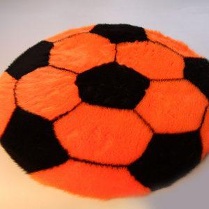 Fertigprodukte Fußballteppich – orange mit schwarz  – 70 cm Durchmesser