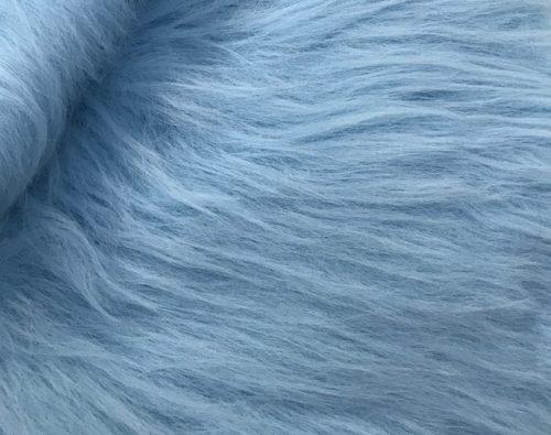 Preiswert Webpelz Preiswert frost hellblau langhaariges Kunstfell – AC356-B. Blue
