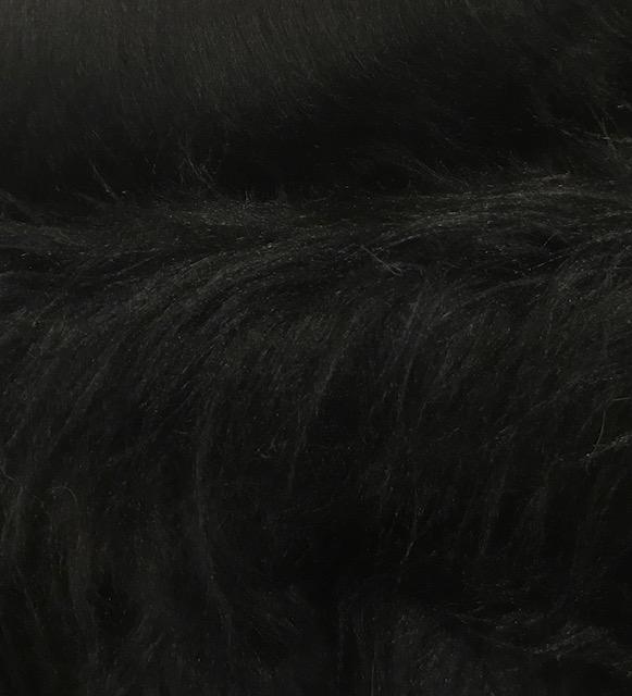 Preiswert Webpelz Preiswert schwarz langhaariges Kunstfell – AC356-Schwarz