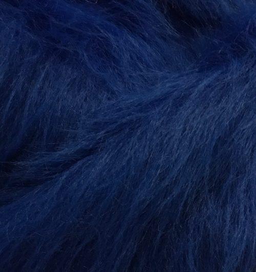Webpelz Stoff als Meterware Preiswert Kobaltblau langhaariges Kunstfell – AC356-Cobalt