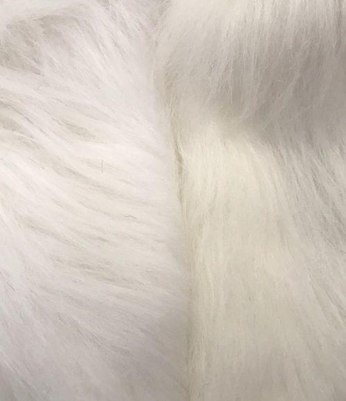 Preiswert Webpelz Preiswert weiß langhaariges Kunstfell – AC356-White
