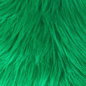 Webpelz Stoff als Meterware Preiswert smaragdgrün langhaariges Kunstfell – AC356-Emerald