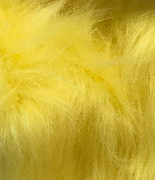 Preiswert Webpelz Preiswert gelb langhaariges Kunstfell – AC356-Flavine