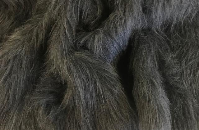 Preiswert Webpelz Preiswert Dunkelgrau langhaariges Kunstfell – AC356-Dark-Grey