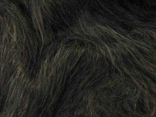 Webpelz Stoff als Meterware Preiswert Dunkelgrau langhaariges Kunstfell – AC356-Dark-Grey