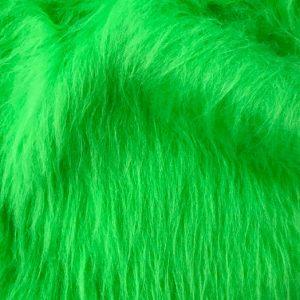 Webpelz Stoff als Meterware Preiswert lindgrün langhaariges Kunstfell – AC356-Lime