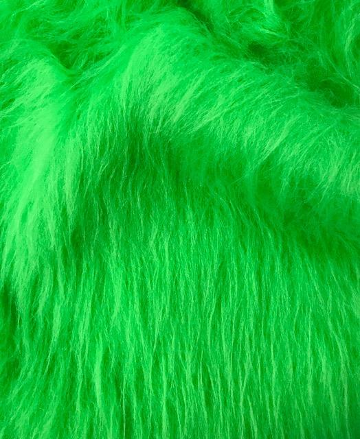 Preiswert Webpelz Preiswert lindgrün langhaariges Kunstfell – AC356-Lime