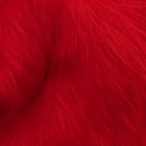 Preiswert Webpelz Preiswert rot langhaariges Kunstfell – AC356-R-Red