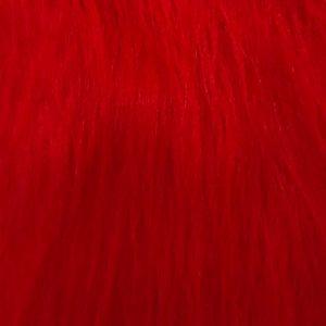 Webpelz Stoff als Meterware Preiswert rot langhaariges Kunstfell – AC356-R-Red