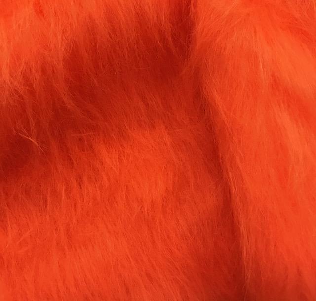 Preiswert Webpelz Preiswert Mandarine Orange langhaariges Kunstfell – AC356-Tangerine