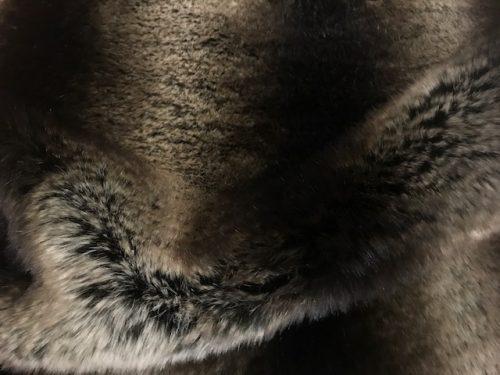 Luxus Webpelz Superweicher Kunstpelz Stoff als Meterware Chinchilla braun / silber – 3011 Brown Silver
