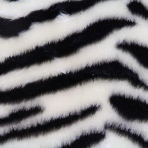 Günstig kaufen Zebra Kunstpelzstoff am laufenden Meter für Verkleidung, Kostüme, Cosplay – R2/60/2 desin FG 78/1