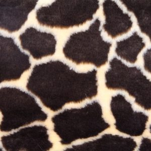 Webpelz Stoff als Meterware Giraffe Kunstpelzstoff am laufenden Meter für Verkleidung, Kostüme, Cosplay – R2/60/2 FG 1430/1 giraffe 921/1