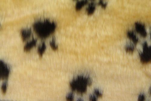 Kunstpelzstoff für Haustiere Budget Pelzimitat Paw print – R2/60/2 /10mm /UP FG637/2