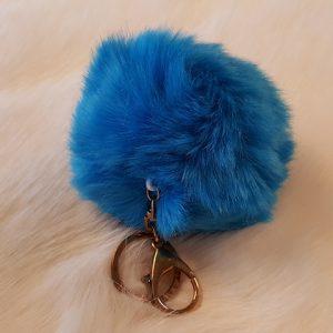 Fertigprodukte Schluesselhänger pompom, Blau