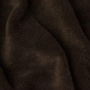Webpelz Stoff als Meterware Meterware Einfarbiges Lammfell Fleece, Anti-Pilling, chocolade braun – Chocolade