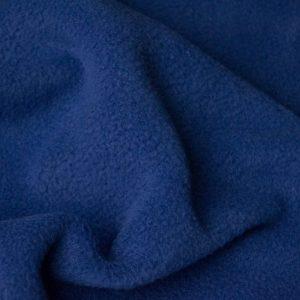 Webpelz Stoff als Meterware Meterware Einfarbiges Lammfell Fleece, Anti-Pilling, demim blau – Denim