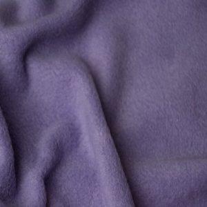 Webpelz Stoff als Meterware Meterware Einfarbiges Lammfell Fleece, Anti-Pilling, lila – Lilac