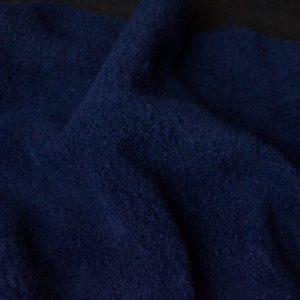 Webpelz Stoff als Meterware Meterware Einfarbiges Lammfell Fleece, Anti-Pilling, marineblau – Navy