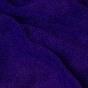 Webpelz Stoff als Meterware Meterware Einfarbiges Lammfell Fleece, Anti-Pilling, lila – Purple