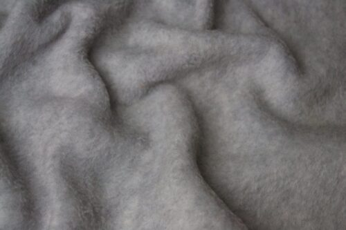 Fleece Stoff Meterware Einfarbiges Lammfell Fleece, Anti-Pilling, silbergrau – Silver Grey
