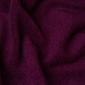 Webpelz Stoff als Meterware Meterware Einfarbiges Lammfell Fleece, Anti-Pilling, dunkelweinrot – Wine