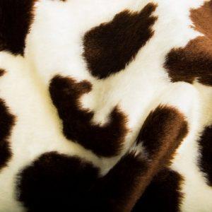 Preiswert Webpelz Kuh Kunstpelzstoff am laufenden Meter für Verkleidung, Kostüme, Cosplay – R2/60/2 100/6