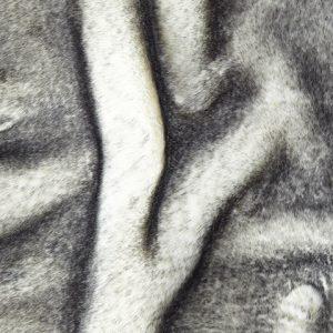 Luxus Webpelz Superweicher Nerzimitation schwarzer und weißer Kunstpelz Stoff – 1550 White/black