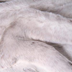 Luxus Webpelz Kaninchenstil Kunstpelzstoff am laufenden Meter Silber – 1551 Silver Frost