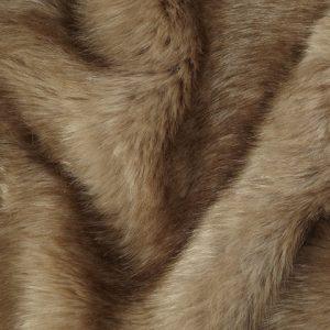 Luxus Webpelz Luxuriöses Pelzimitat Stoff im Bären-Stil, Kamelbraun, super weich – 3080 Camel-Brown